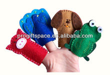 Aliexpress Hot Sale High Quality Animal Shaped Finger Puppets for Kids Handmade Promotional Felt Hand Puppet Made in China