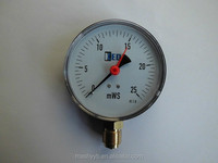 high quality useful black electrophoresis red pointer type pressure gauge with CE