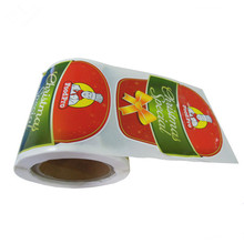 Custom Roll Adhesive Printing Plastic Food Sticker Labels
