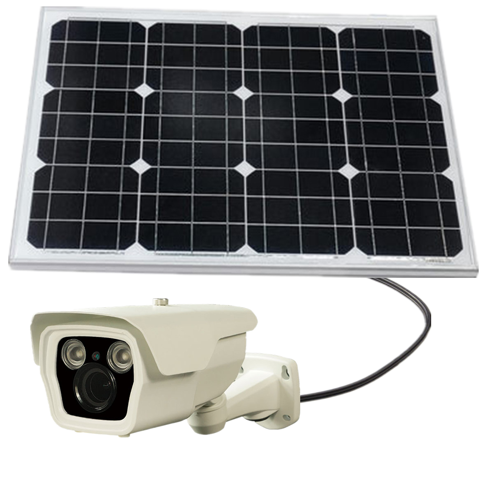 P2p Solar power ip camera kit with 50W solar panel for outdoors security
