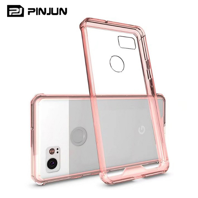 Anti-shock hybrid plastic crystal case back cover for google pixel 2 xl case