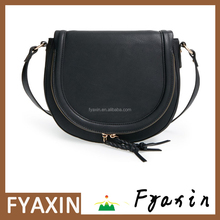 2017 Guangzhou Factory Price Black Color Women PU Leather Small Shoulder Sling Bag For Girls