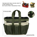 Heavy Duty Polyester Canvas Garden Tool Bag Tote Garden Tool Bag With 7 Pockets
