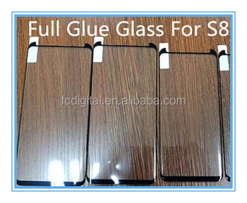 Hot selling Full glue glass screen protector for s8 curved 3d full cover films