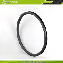 "26"" bicycle carbon rims hookless carbon rim 28h 33mm wide"