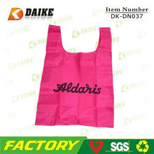 Promotional High Quality Reusable Durable Eco pink shopping bag