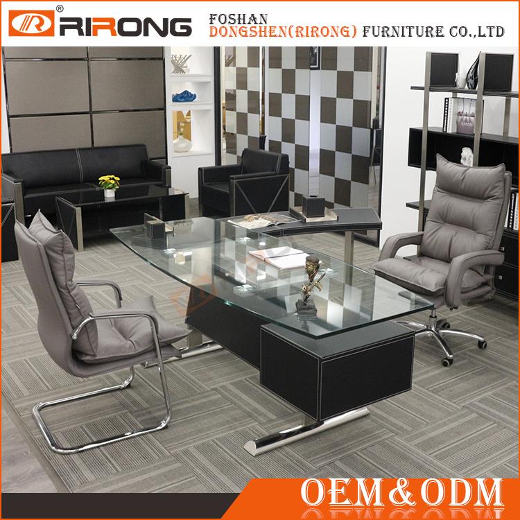 Popular ejecutivo moderno mobiliario de oficina escritorio for Mobiliario oficina moderno