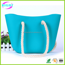 Waterproof beach bag fashion silicone bag for girls/women