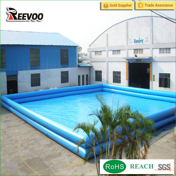 Super quality largest inflatable square plastic swimming pool
