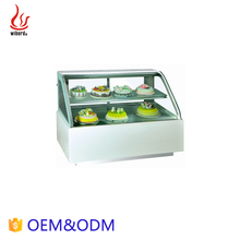 Junjian China Suppliers Refrigerator Orthodrome Glass Cake Showcase