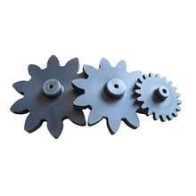 Custom made size reinforced nylon 6 spur gear for paper shredders