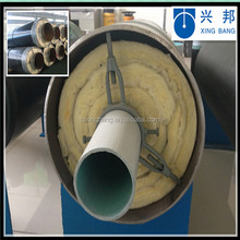 underground external sliding glass wool material insulated high temperature insulation steam pipe