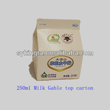 Aseptic short shelf life Milk cartons