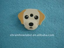 dog shaped rubber decoration tag pacthes