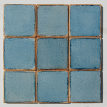 4x4 cheap Light blue handmade ceramic floor tiles specification