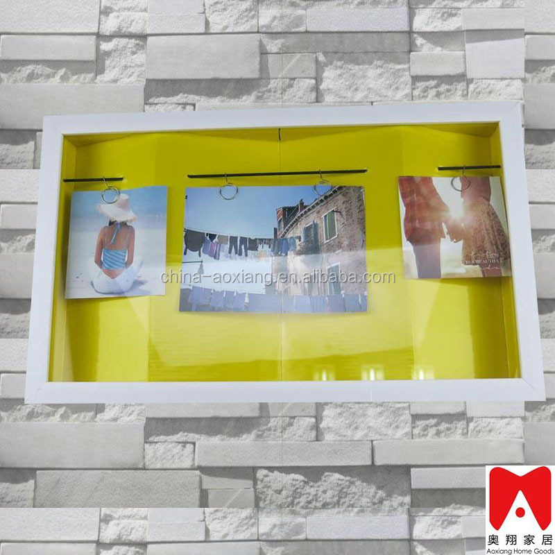 China direct factory Wooden PS MDF A1A2 A3 A4 Beautiful PS MDF Wood glass wall mounted acrylic photo frame