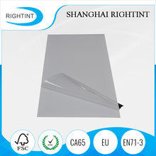 transparent adhesive polyester film for laser printing