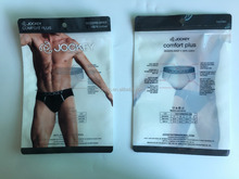 OEM Men Box/ Underwear Packaging Bag , Aluminum Foil Bag With Zipper for Underwear