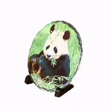 Panda Round Stone Plain Stone 8 Digital Beautiful Double Photo Frames SBH-57