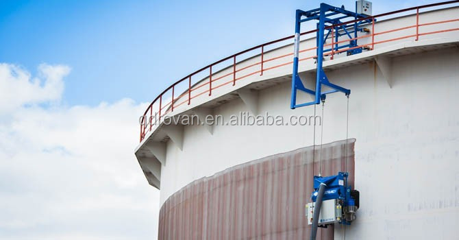 Vertical tank surface rust removing machine, vertical cleaning equipment