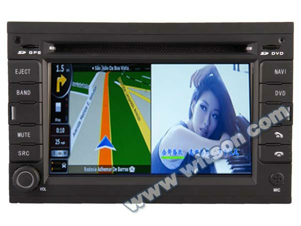 WITSON double din car dvd gps for PEUGEOT 307 with V-20 disc CDC Memory