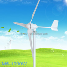 24V 48V 2.5m/s Low Wind Speed Start 3 Blade 1150mm, with IP 67 Charge Controller 1000W Price Wind Turbine Generator