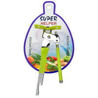 JK12101CF1 Soft Touch Textured Grip Handle Metal Can Openers with High Carbon Stainless Steel Cutting Blade