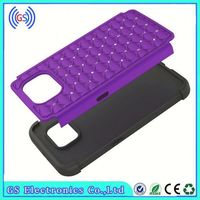 Hot Diamond PC Shockproof Silicone Hybrid Bling Case For Huawei Y301(H881C)