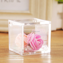 Wholesale Clear Acrylic Plastic Candy Box Mini Square Package Box