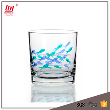 wholesale tableware handmade lead free clear crystal stemless branded logo cups juice glass