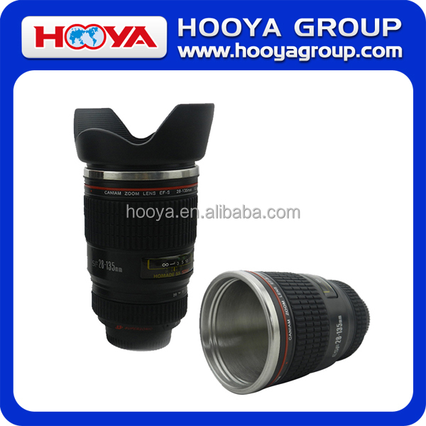 400ml Camera Lens Shaped Vacuum Cup/Coffee Mug For Gift