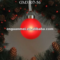 Red glass christmas ball decoration/gift with light