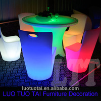 Rechargeable Illuminated led party chair pro garden plastic chairs plastic wedding chair LTT-CT05A