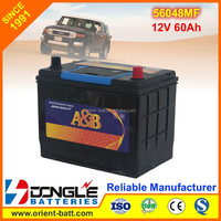 Factory Supply Korea Quality Portable Car Starter Battery for All Brands