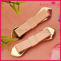 New pink bow fashion metal clip shoe accessory