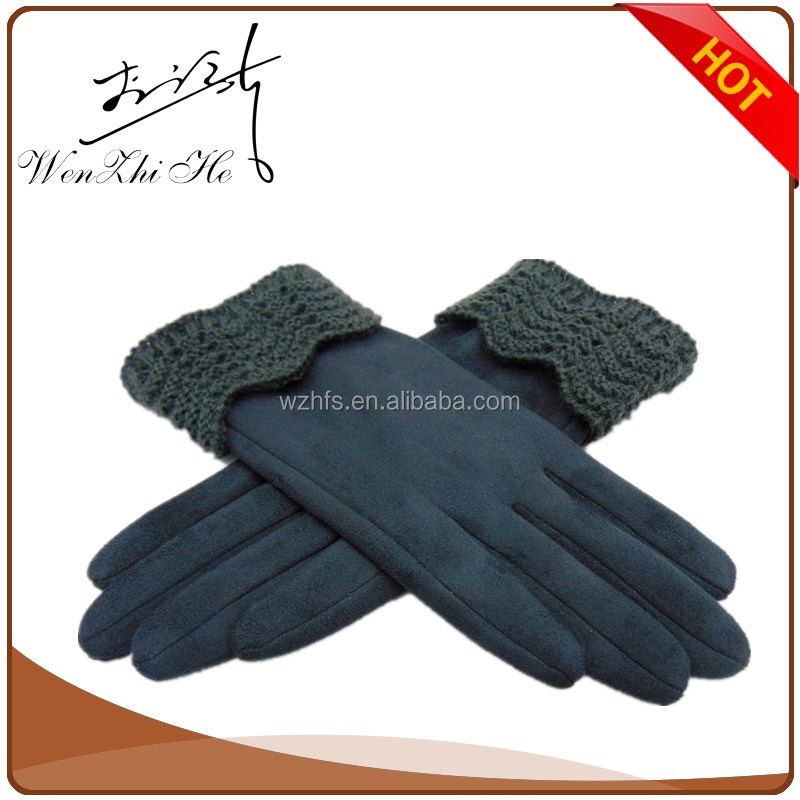 Suede Led Finger Light Gloves With Woolen Yarn