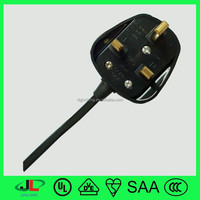 UK electrical wire ,ac waterproof electrical wires with British 3 pin power plug