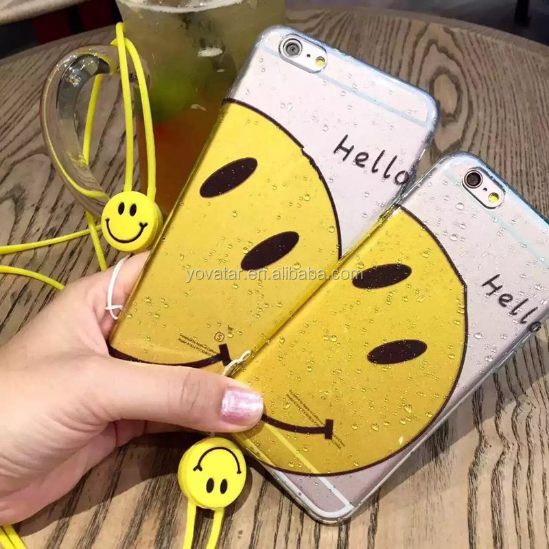 Water Drop Smile Face Phone Case For iPhone 6 case Soft TPU Mobile Phone Case For iPhone 6 Plus
