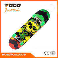 TODO-901 9 ply Chinese Maple Skateboard Fashional and Cool Blank Bamboo Skateboard Decks