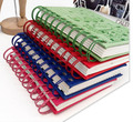 custom wholesale pp cover spiral coil notebook and Paper cover spiral coil notebook with pen