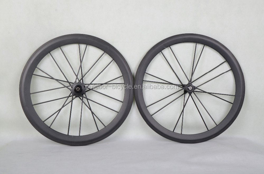 newest design 100% full carbon toray 50/55mm tubular road wheels 20mm width with DT350S hubs 16/20H 3k matt full carbon spokes