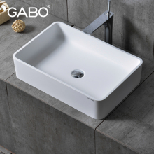 China suppliers man made stone countertops modern types of wash basins