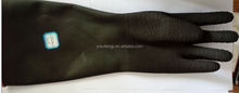 black industrial gloves/safety gloves/protective rubber gloves