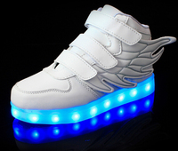 New Hot-selling Fashion Wing Design Led Running Shoes With Lights For Kids