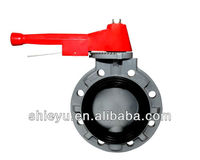 Plastic Butterfly Valve With Lever Handle Type