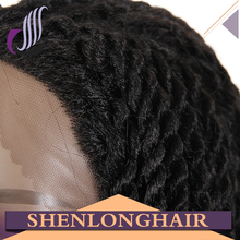 Twist Lace Front Wig Afro Twist Braided Wig For Black Women Synthetic Lace Front Wig