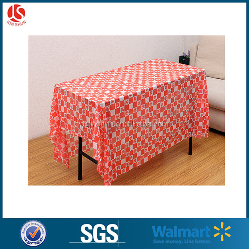 Disposable Cheap Table Cloth / GinghamTable Covers / Platic Tablecloth for Wedding