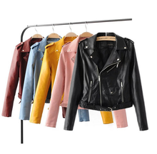 X86068A new style plain woman pu leather bomer jacket women ladies jackets and coats