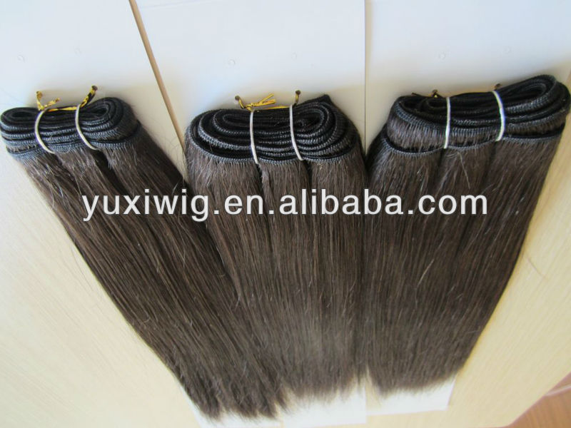 big discount hgih quality non remy double drawn hair