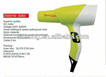 ZN5518 Professional plastic and ion hair dryer A065